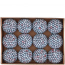 Ball berry 12 pieces per box, D6cm, blue
